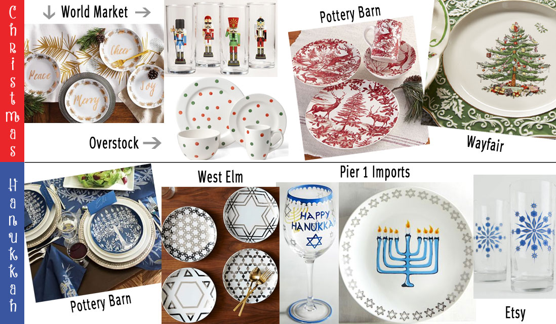 festive pieces of dinnerware
