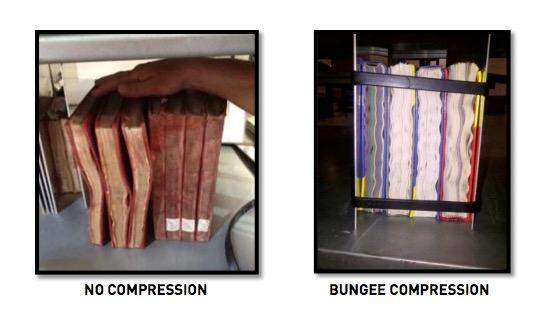 No Compression vs Bungee Compression