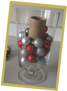 Christmas Decorating Ornament Centerpiece