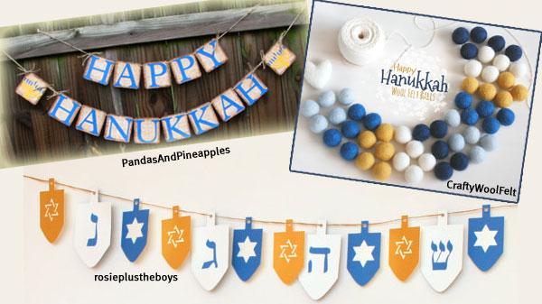 Hanukkah Decorating Garland