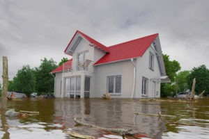 flood water damage to a home