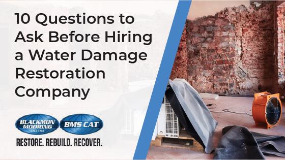 water damage restoration Northern VA