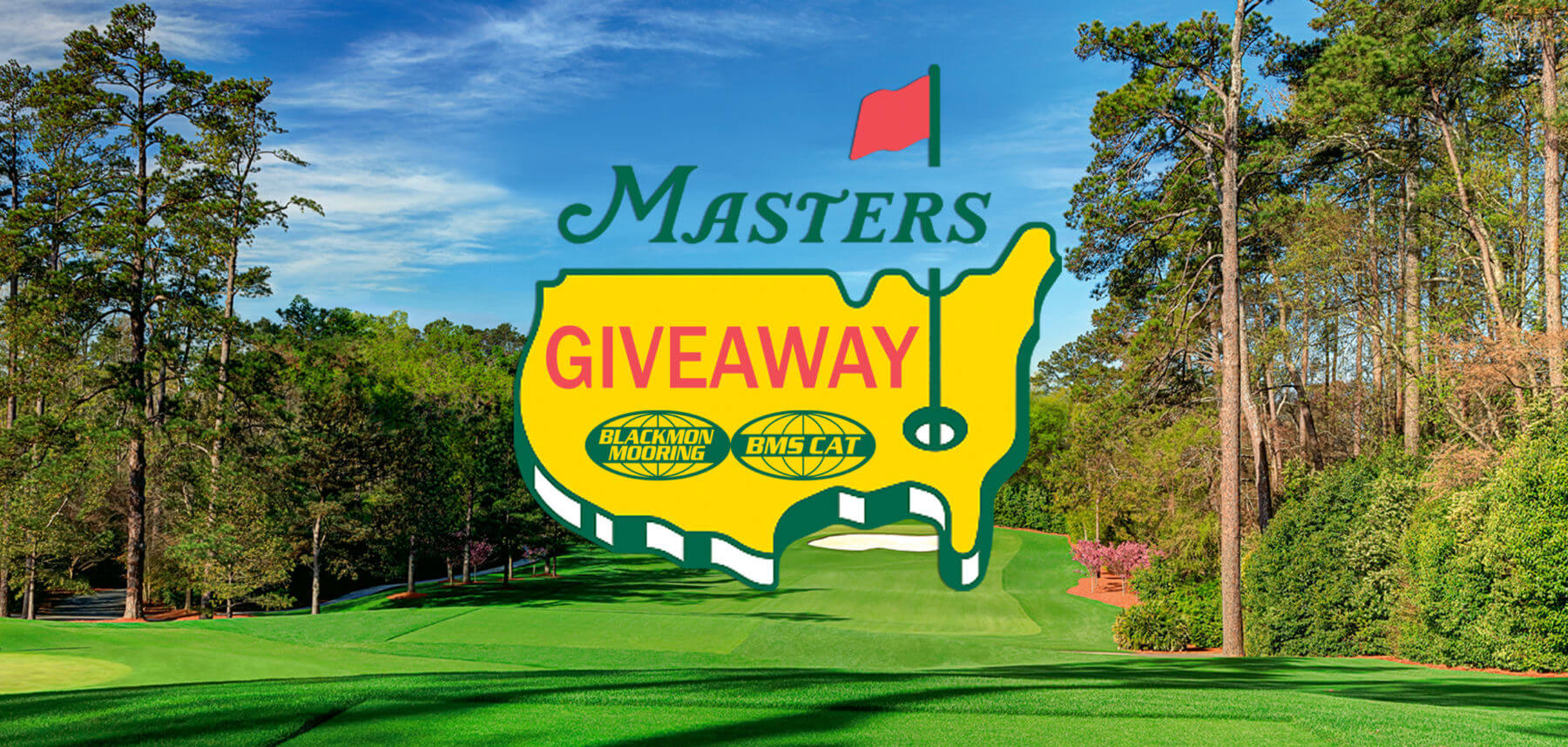 Masters Tournament Giveaway Landing Page Header